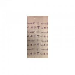 Saqueta de Papel Branco s/Asa 10x6x26 Impressão 1 Cor 1 Lado