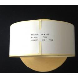 Rolo Etiquetas Termicas C/K 40x100