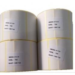 Rolo Etiquetas Térmicas 57x31 C/K